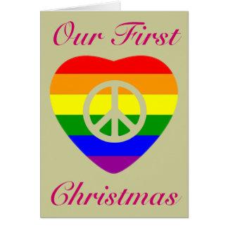 OUR FIRST CHRISTMAS MARRIED GAY COUPLE CARDS