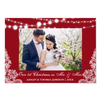 Our First Christmas Mr. & Mrs. Photo Card R