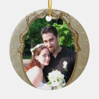 Our First Christmas Newly wed ornament with photo