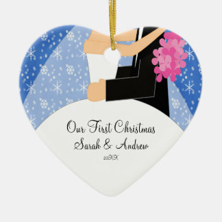 Our First Christmas Ornament Bride & Groom