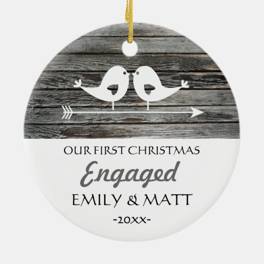 Our first Christmas ornament - love birds -