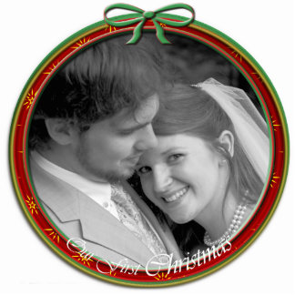 Our First Christmas Ornament Photo Sculpture Decoration