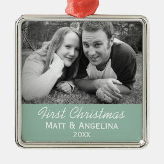 Our First Christmas Photo - Wedding or Engagement Christmas Ornament