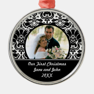 Our First Christmas Silver-Colored Round Decoration