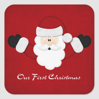 Our First Christmas Square Sticker