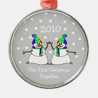 Our First Christmas Together 2010 (GLBT Snowmen) Christmas Ornament