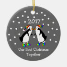 Our First Christmas Together 2017 (GLBT Penguins) Christmas Ornament