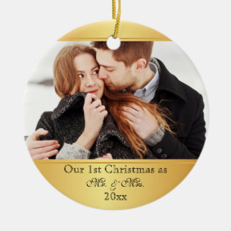 Our First Christmas Together Custom Christmas Ornament