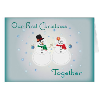 Our First Christmas Together Greeting Card