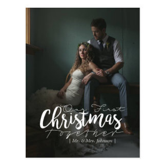Our First Christmas Together | Holiday Photo Postcard