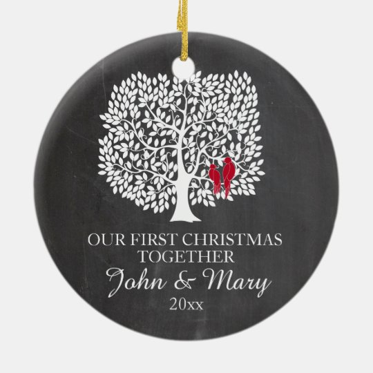 Our first Christmas together ornament, love birds Christmas