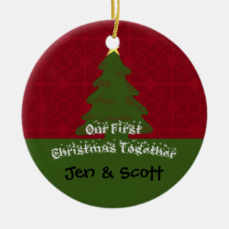 Our First Christmas Together Photo Ornament
