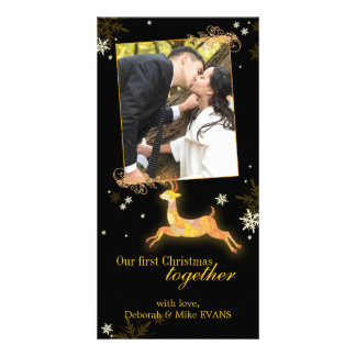 Our First Christmas Together Reindeer Photo Picture Card