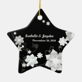 Our First Christmas Together Wedding Couple Gift Ceramic Star Decoration