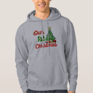our first christmas tree family gift hoodie design