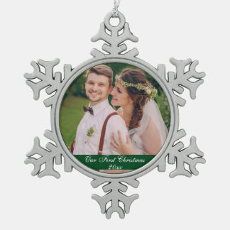 Our First Christmas Wedding Ceramic Ornament G S