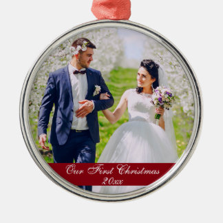 Our First Christmas Wedding Premium Ornament