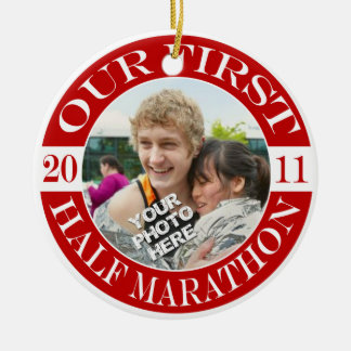 Our First Half Marathon - 2011 Christmas Ornament