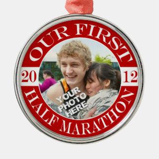 Our First Half Marathon - 2012 Christmas Ornament