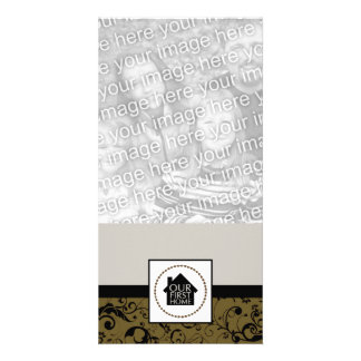our first home (damask) photo cards