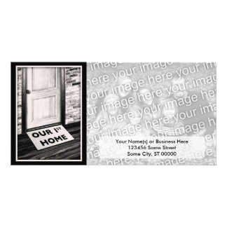 our first home door mat photograph personalised photo card