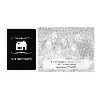 our first home (mod black and white) photo card