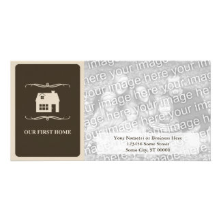 our first home (mod home) photo card template