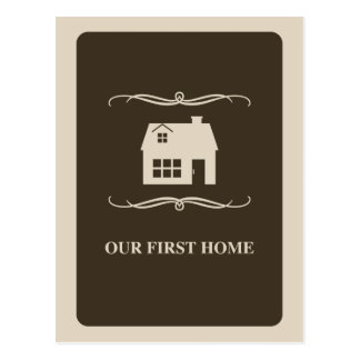 our first home (mod home) postcards