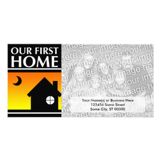 our first home (mod sunrise) photo card template