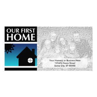 our first home (mod sunset) picture card