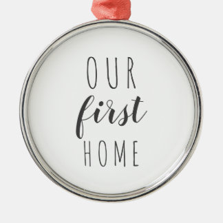Our first home modern farmhouse ornament