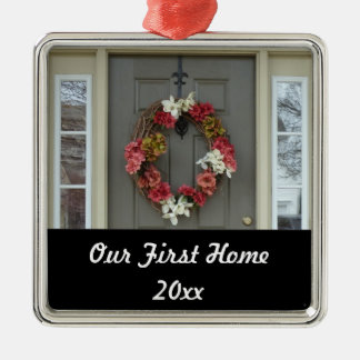 Our First Home New House Photo Ornament