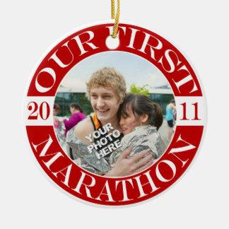 Our First Marathon - 2011 Christmas Ornament