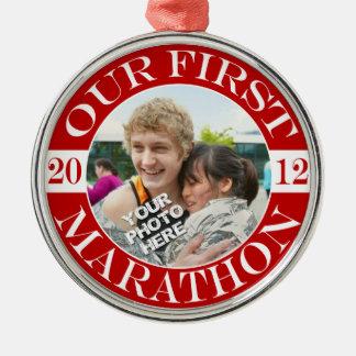 Our First Marathon - 2012 Christmas Ornament