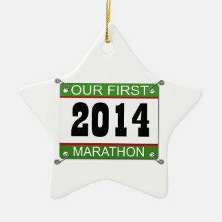 Our First Marathon Ornament - 2014