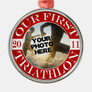 Our First Triathlon - 2011 Christmas Ornament