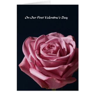 Our First Valentines Day -- Rose Greeting Card