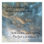 Our God is an awesome God! Poster