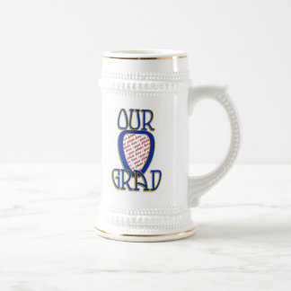 OUR GRAD  Blue & Gold School Colors Frame Coffee Mugs