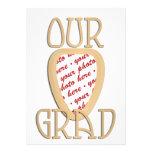 Our Grad Gold Photo Frame Custom Announcement