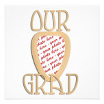 Our Grad Gold Photo Frame Personalised Announcements