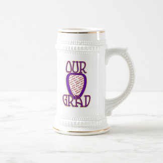 OUR GRAD Gold & Purple Photo Frame Mugs