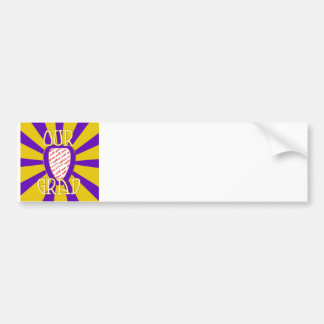 'OUR GRAD' Purple & Gold Photo Frame - ZOOM! Bumper Sticker