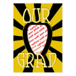 OUR GRAD School Colours Gold&Black  'ZOOM' Frame