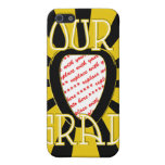 OUR GRAD School Colours Gold&Black 'ZOOM' Frame Cover For iPhone 5/5S