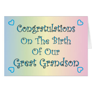 Our Great Grandson Card