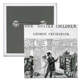 Our Gutter Children, 1869 15 Cm Square Badge