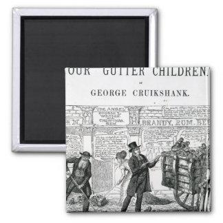 Our Gutter Children, 1869 Square Magnet