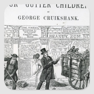 Our Gutter Children, 1869 Square Stickers