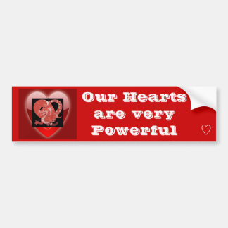Our Hearts bumper sticker